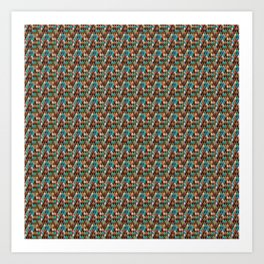 Brownish nude spectrum of colors in a pattern Art Print