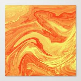 Orange Marble Marble Canvas Print
