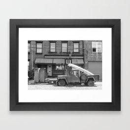 Sunny's Side of the Street Framed Art Print