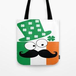 Irish mustache man st.Patty's day Tote Bag