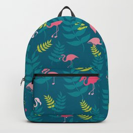 Flamingo and Leaves Backpack