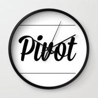 pivot Wall Clocks featuring Pivot by buttercupkk12
