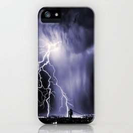 Lightning and Rain Funnel iPhone Case