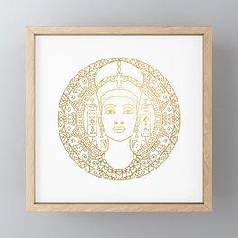 Nefertiti Mandala – Egypt Framed Mini Art Print