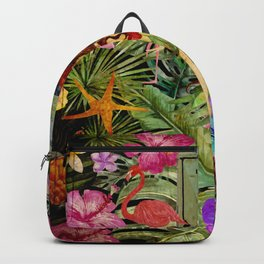 Tropical Vintage Exotic Jungle Beach Party Backpack