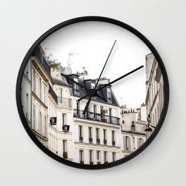Parisian Street in the Marais Wall Clock