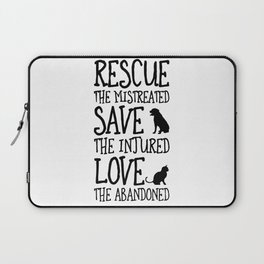 Rescue Save Love Laptop Sleeve
