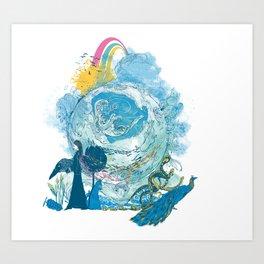 i love my planet 2 Art Print