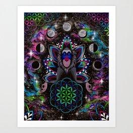 Astral Rafiki Art Print