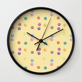 Bubble Pattern Wall Clock