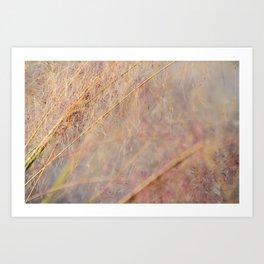Cotton candy pink grass Art Print