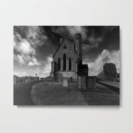 Church and Graveyard in Lusk Ireland Metal Print