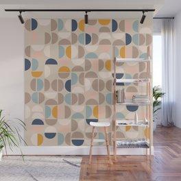 Mid Century Modern organic geometric pattern 1 Wall Mural