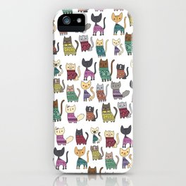 sweater cats iPhone Case