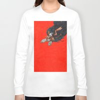 birdman Long Sleeve T-shirts featuring Birdman by Anna Landin