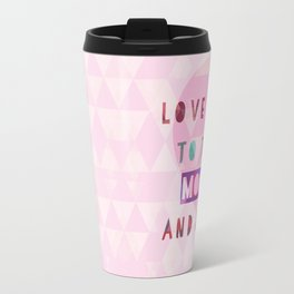 Triangles to the Moon and Back Travel Mug