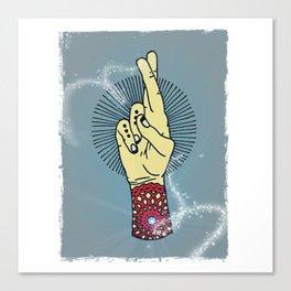 Fingers Crossed 2 Canvas Print
