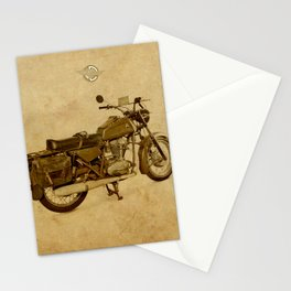Ducat Condor 350 Militare 1973 old motorcycle Stationery Cards