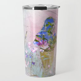 A girl in a forest Travel Mug