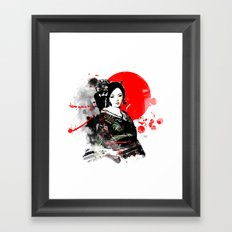 Kyoto Geisha Japan Framed Art Print