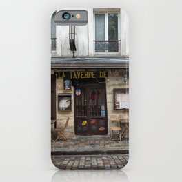 Cafe in Monmartre Paris iPhone Case