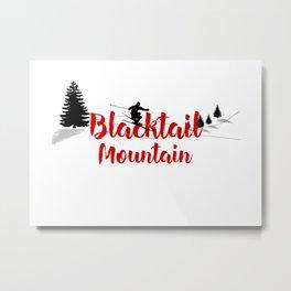 Ski at Blacktail Mountain Metal Print