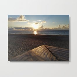 go out with the setting sun Metal Print