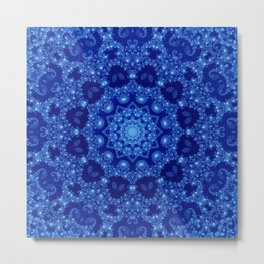 Ocean of Light Mandala Metal Print