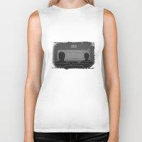 cassette Biker Tanks featuring cassette  by gazonula