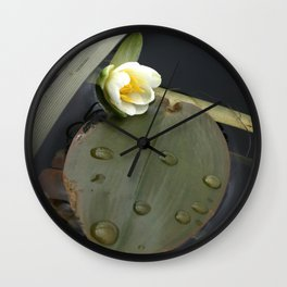 Zen Water Lily Wall Clock