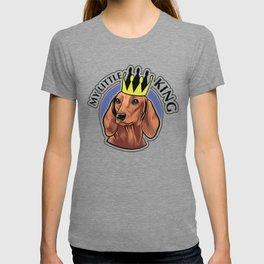 Brown dachshund king T-shirt