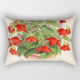 Red Begonias Rectangular Pillow