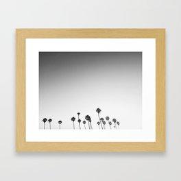 Palm Lovin' BW Framed Art Print