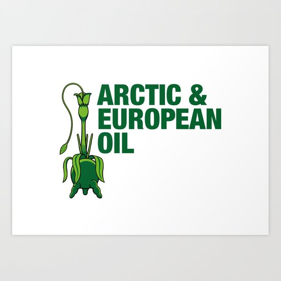 Arctic & European Oil Art Print