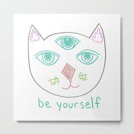 Three Eyed Cool Cat Metal Print