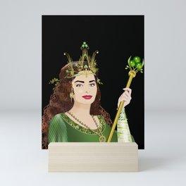 Queen of Clubs Mini Art Print
