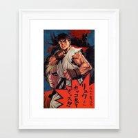 manga Framed Art Prints featuring Manga 02 by Zuno