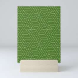 Sap green - green - Modern Vector Seamless Pattern Mini Art Print