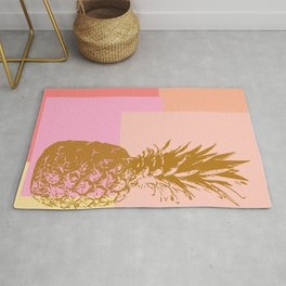 Pineapple and Geometry Rug