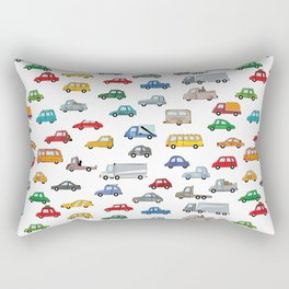 cars illustration, Cartoon car pattern - auto collection Rectangular Pillow