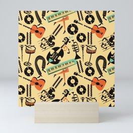 Jazz Rhythm (positive) Mini Art Print