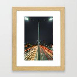 Car Lights Framed Art Print