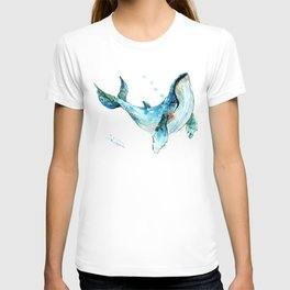Humpback Whale Artwork Children Illustration Cute little Whale, whale design T-shirt