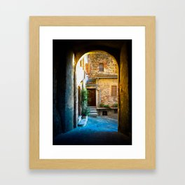 Piazza Centrale Framed Art Print
