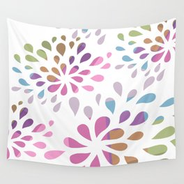 Colourful drops Wall Tapestry