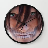 titan Wall Clocks featuring Titan by 3dbrooke