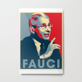Doctor Anthony Fauci Hope and Truth Metal Print
