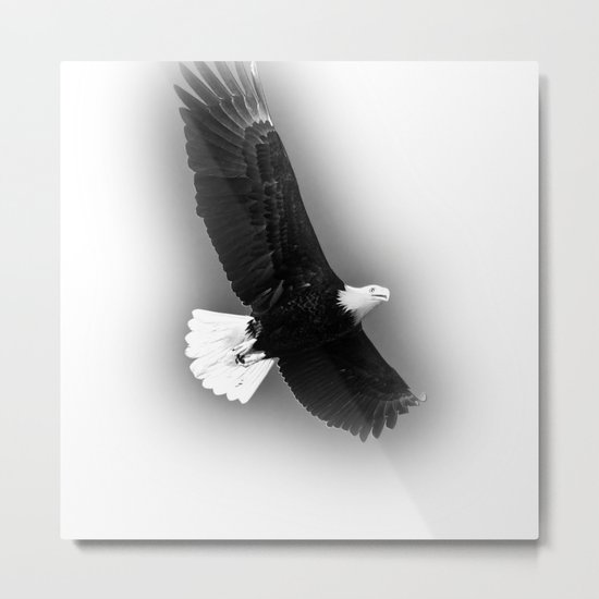 Freedom Eagle (white) Metal Print