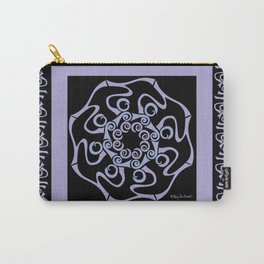 Hope Mandala with Border - Lavender Black Carry-All Pouch