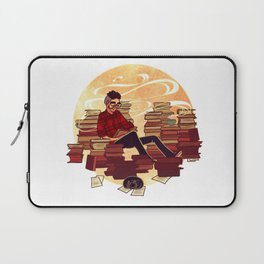 Book Lover Boy Laptop Sleeve